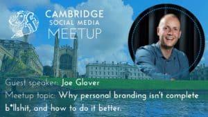 Joe Glover, Personal Branding