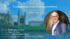 Coronavirus crisis Communications with Simon Hall