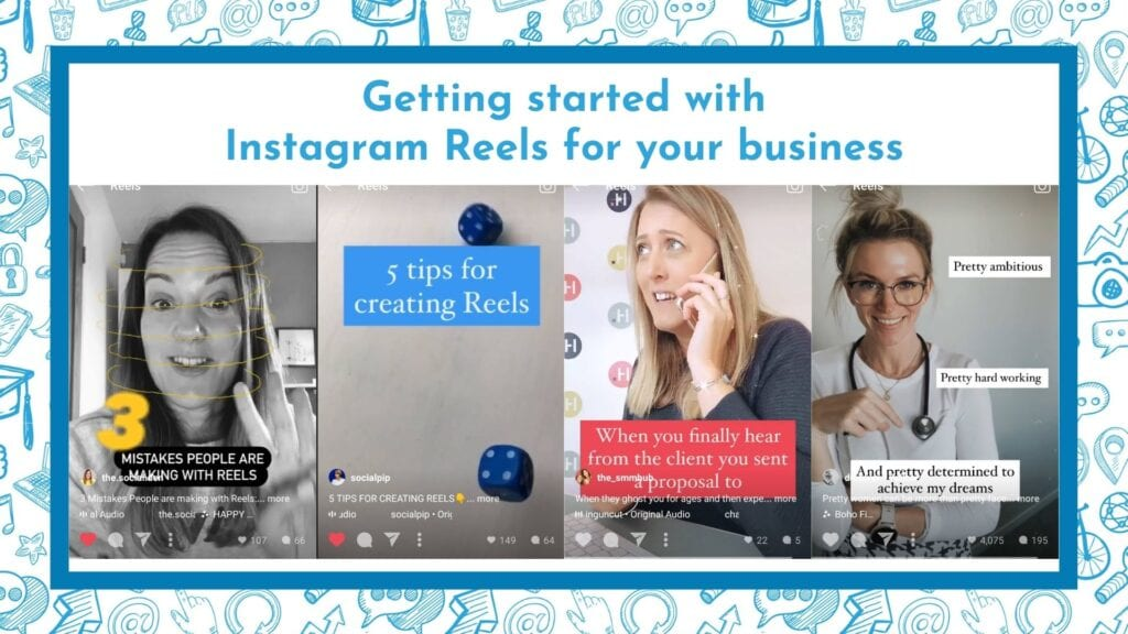 Examples of Instagram Reels for businesses