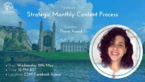 Strategic Monthly Content Process for your Social Media with Thana Asaad